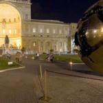 Veduta del Cortile della Pigna in notturno; Musei Vaticani